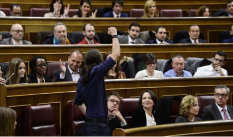 Podemos MPs forced to sit at the back… and they're furious