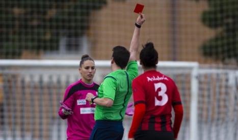 Red card for 'sexist' ref who asked player out mid-match