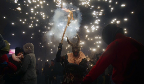 What the devil! Sparks fly at Spain's most explosive fiesta