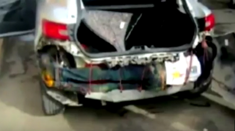 Now migrant hides inside car bumper to cross into Spain
