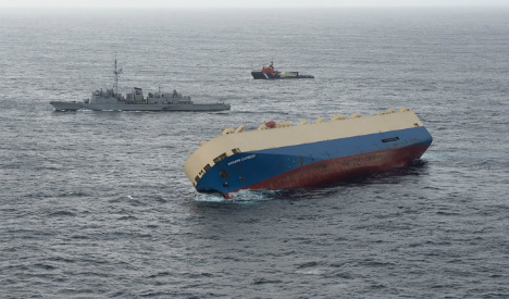 Stricken ship arrives in port of Bilbao after high seas drama