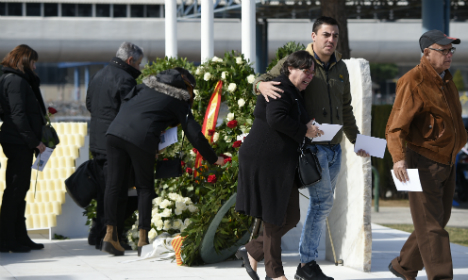 Families return to plane crash site in French Alps a year on