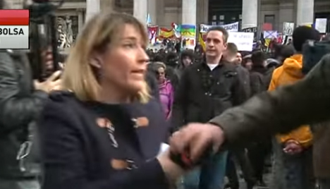 Spanish reporter harassed by far-right Brussels protesters