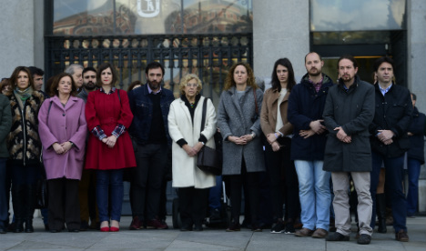 Madrid observes minute's silence for Brussels victims