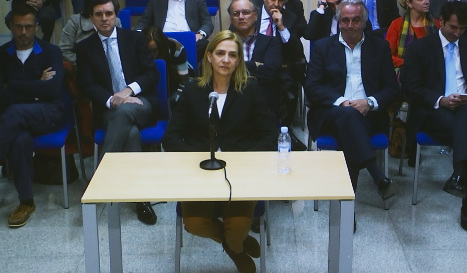 Spain's Princess Cristina takes stand in tax evasion trial