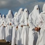 Penitents parade on Good Friday during Holy Week in the northwestern Spanish village of Bercianos de Aliste, near Zamora.Photo: Cesar Manso/AFP