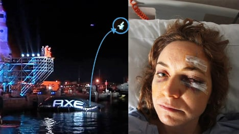 Wannabe astronaut 'blinded' after Ibiza jump goes wrong