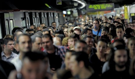 Two day metro strike causes commuter chaos in Barcelona