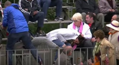 Protesters suffer 'savage' attack during Catalan bull run
