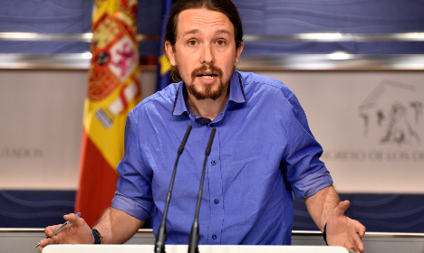Spain's Podemos ahead of Socialists as election looms