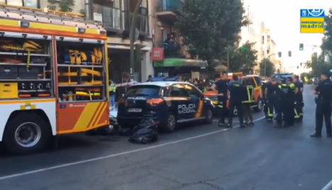 Axe murderer kills man and two women at Madrid law firm