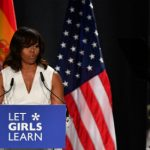 First Lady 'proud' US might just elect a female president