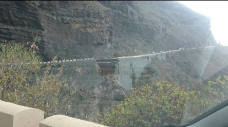 Tenerife cliffside road collapse forces mass evacuation