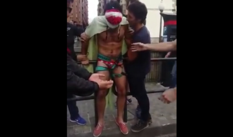 Stag party bungee jump prank goes viral in Spain