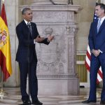Obama meets Spanish King on symbolic but curtailed trip