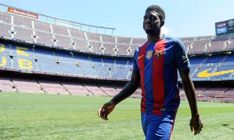 Barcelona defender Umtiti grieves for Nice victims