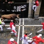 'I've had best time ever' insists American gored in bull run