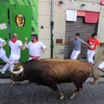 The running of the bulls in Pamplona, Spain on Friday July 8th, 2016. Photo: AFP