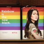 Madrid's metro went all out to celebrate Pride, including rainbow-themed adverts and a new rainbow-themed decor for the Chueca metro station. Photo: Jessica Jones