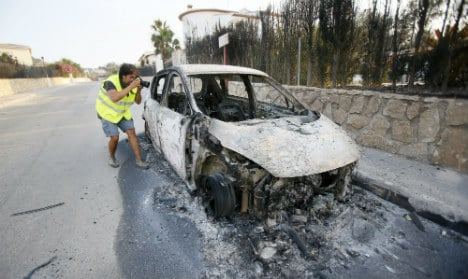 In pics: Devastation caused by Costa Blanca wildfires