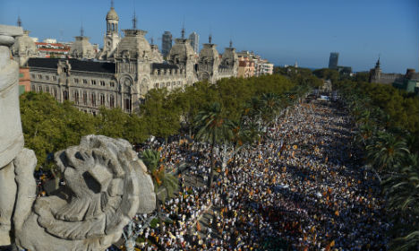 Vast crowds demand Catalan independence from Spain