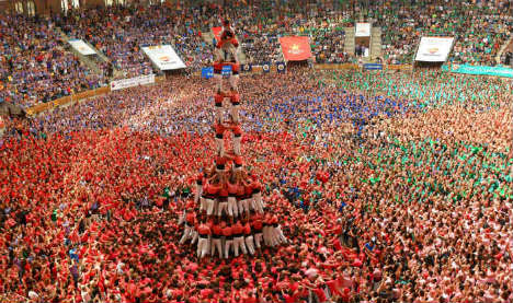 Amazing photos of Catalonia's 'human tower' contest