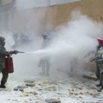 Those who don't abide by the new laws set by the Enfarinats, the 'Flour Police', are given unofficial fines.Photo: AFP