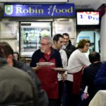 Madrid homeless dine out... for free
