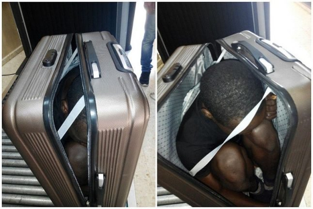 Man attempts to cross into Spain smuggled inside suitcase