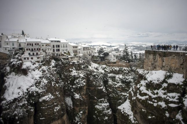 Much of Spain on alert for snow, heavy rain and strong winds