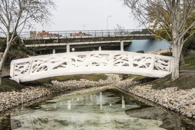 World's first 3D-printed bridge opened in Madrid