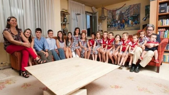 Father of famously large family dies in Barcelona (leaving behind 15 children)