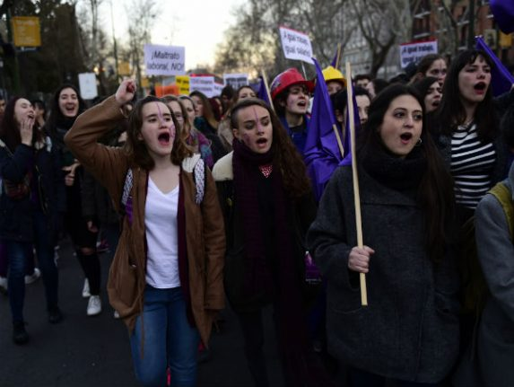 International Women's Day: Women in Spain urged to strike, march…  and dance the merengue