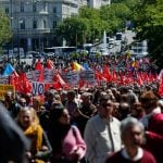 Thousands join May Day march against corruption in Madrid