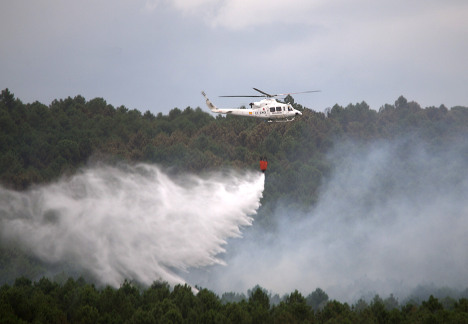 After France and Portugal, Spain battles forest fire