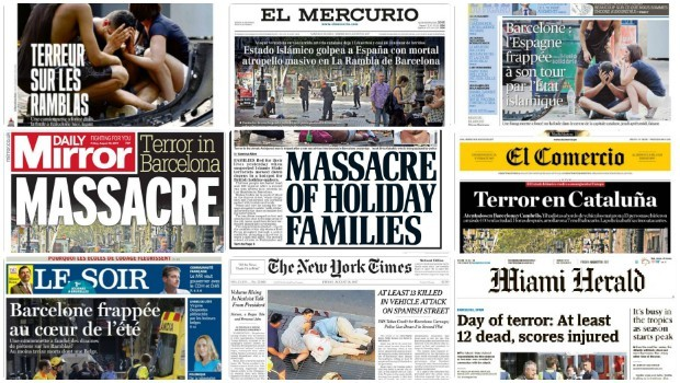 This is how the world reacted to the terror attack in Barcelona