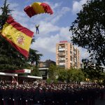 Madrid covered in blanket of Spanish flags on National Day