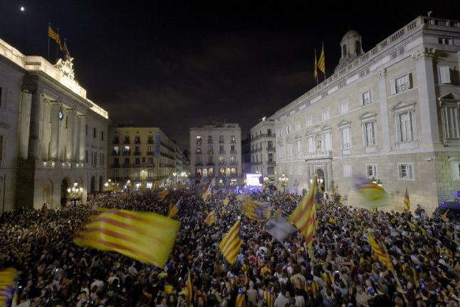 Catalonia declares independence but Spain's allies back Madrid