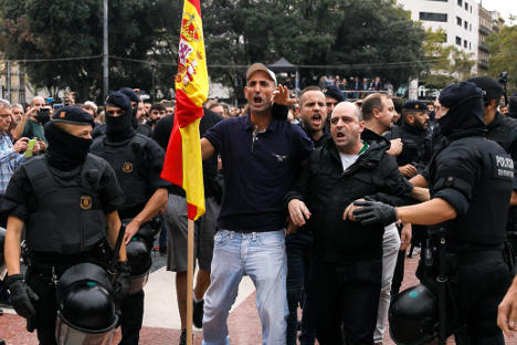 Spain's far-right gains visibility in Catalonia crisis