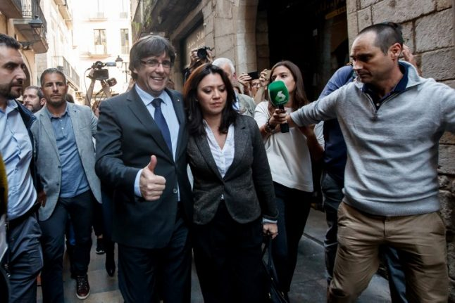 Deposed Catalan President Carles Puigdemont is apparently already in Belgium