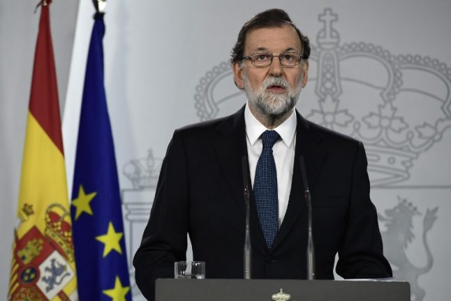 Rajoy says rule of law prevailed by blocking Catalan vote