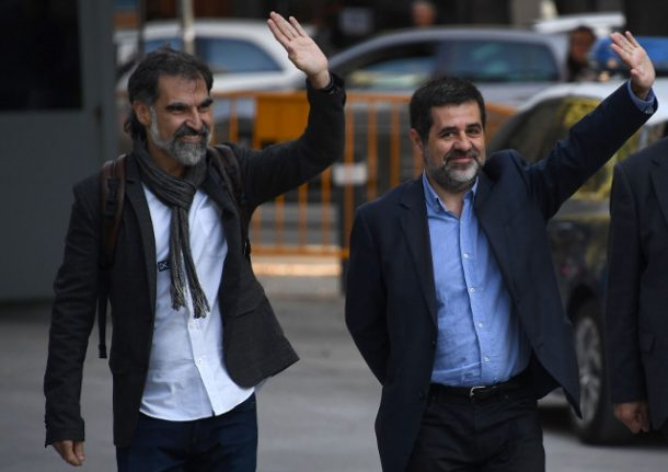 Spain detains high-profile Catalan independence activists