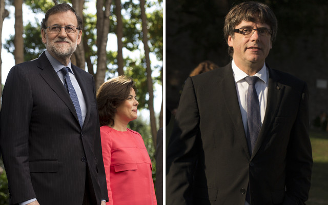 Three of the key players in the Catalan independence dispute