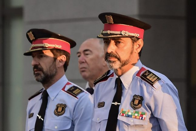 Catalan police chief appears in court accused of sedition