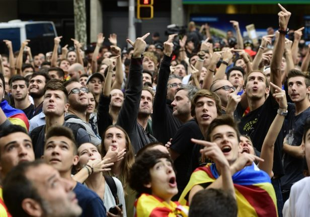 Catalans take to the streets as general strike shuts down region