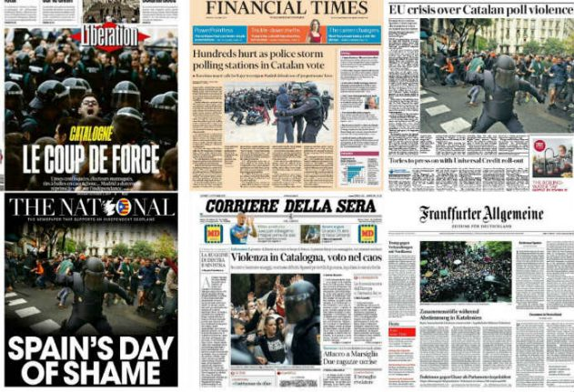 Spain's Day of Shame: How the world reacts to Catalonia crisis
