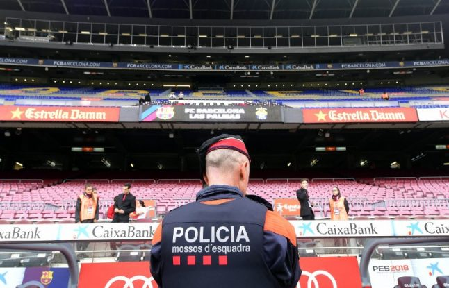 Tensions hit football as Barça match played behind closed doors