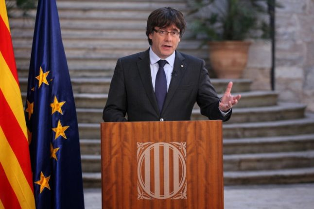 Catalan separatist leader urges 'democratic opposition' to Madrid takeover
