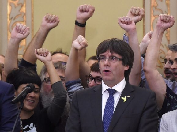 Spain says it will file rebellion charges against Catalan leader Charles Puigdemont