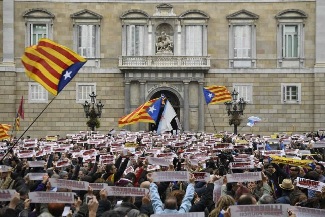 Pro-independence Catalans to protest in Barcelona